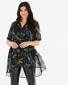Junarose Bird Print Long Shirt