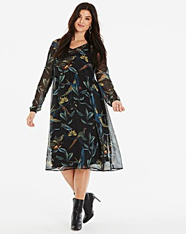 Junarose Bird Print Long Dress