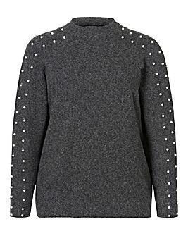 Junarose Pearl Sleeve Knit Pullover