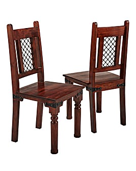 Jaipur Acacia Pair of Dining Chairs
