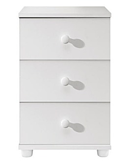 Aspen 3 Drawer Bedside Table