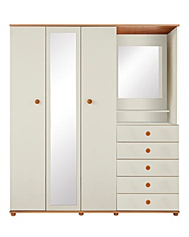 Aspen 3 Door 5 Drawer Combi Wardrobe