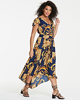 Ax Paris Curve Scarf Print Maxi Dress