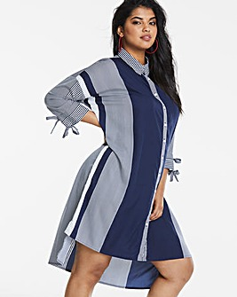 AX Paris Curve Multi Stripe Shirt Dress