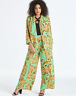 Ax Paris Curve Scarf Print Trouser