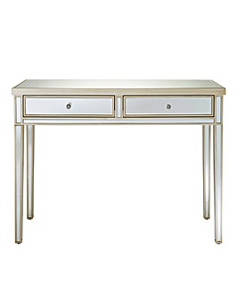 Perla Mirrored 2 Drawer Dressing Table