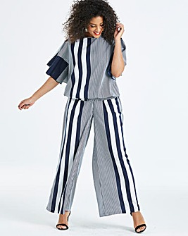 Ax Paris Curve Mixed Stripe Trouser