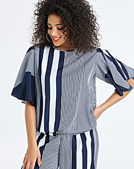 AX Paris Curve Mixed Stripe Top