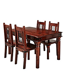 Jaipur Acacia Dining Table 4 Chairs