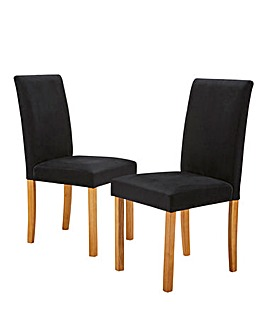 Mia Velvet Pair of Dining Chairs