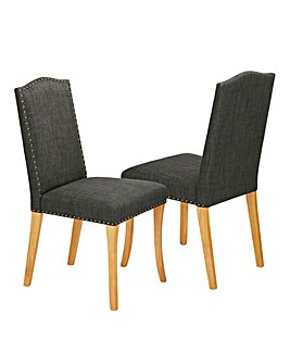 Antonia Fabric Pair of Dining Chairs
