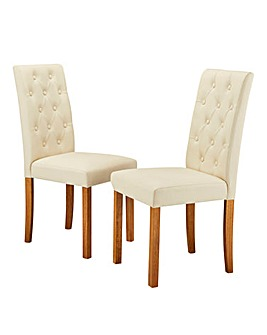 Grace Faux Leather Pair of Chairs