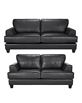 Harper Leather 3 & 2 Seater Sofa