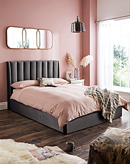 Porto Fabric Storage Bedstead