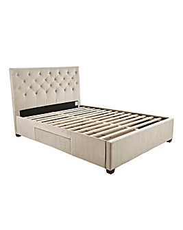 Capri Fabric Bedstead with 2 Storage Drawers