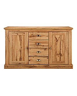 Alderley Oak Effect 2 Door 4 Drawer Sideboard