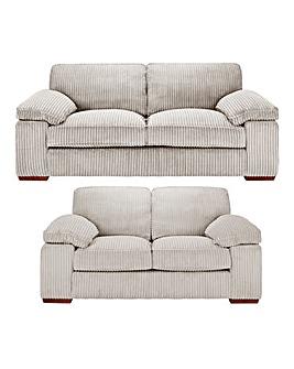 Mirah Jumbo Cord 3 Seater plus 2 Seater Sofa