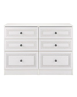 Richmond Ready Assembled 6 Drawer Chest