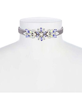 Mood Crystal Flower Choker Necklace