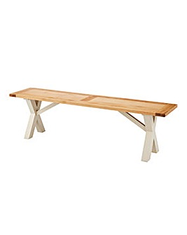 Oxford Crossbase Two-Tone Bench