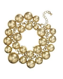 Mood Orb Cluster Statement Bracelet