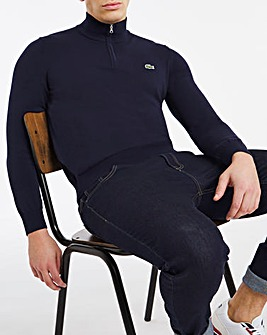 Lacoste 1/4 Zip Cotton Knit