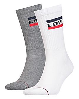 Levi's 2 Pack Sportwear Logo Sock