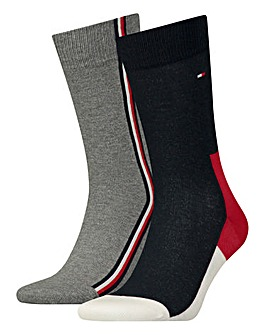 Tommy Hilfiger 2 Pack Iconic Hidden Sock