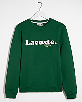 Lacoste Word Print Logo Sweatshirt