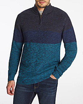 Joe Browns Ombre Three Quarter Zip Knit