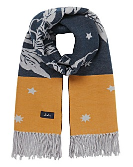 Joules Elissa Navy/Yellow Floral Scarf