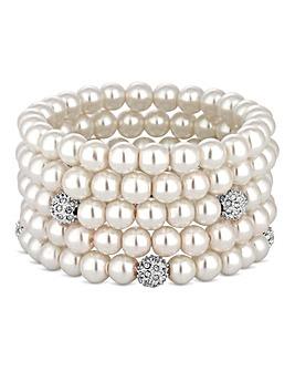 Mood Pave Pearl Bracelet Set