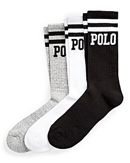 Polo Ralph Lauren 3 Pack Crew Stripe Socks