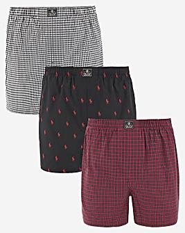 Polo Ralph Lauren 3 Pack Woven Boxers