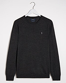 Polo Ralph Lauren Heather Long Sleeve Crew Neck Jumper