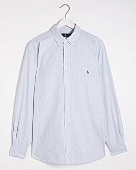 Polo Ralph Lauren Blue Long Sleeve Classic Stripe Shirt