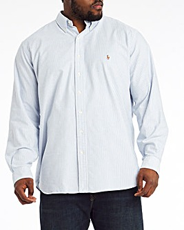Polo Ralph Lauren Blue Long Sleeve Classic Stripe Shirt