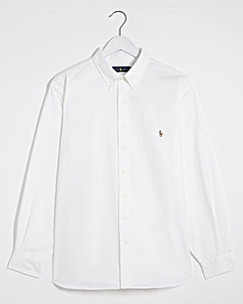 Polo Ralph Lauren White Classic Fit Long Sleeve Oxford Shirt