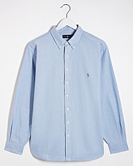 Polo Ralph Lauren Blue Classic Fit Long Sleeve Oxford Shirt