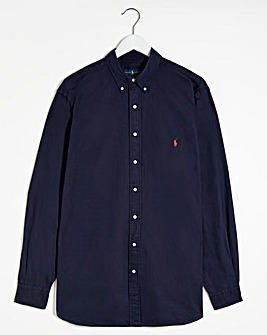 Polo Ralph Lauren Navy Classic Fit Long Sleeve Oxford Shirt