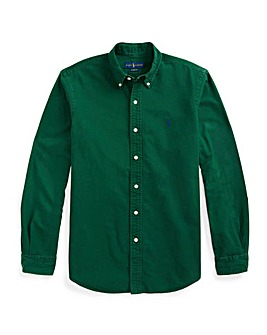 Polo Ralph Lauren Green Shirt Long Sleeve Oxford Shirt