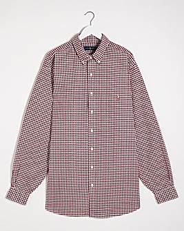Polo Ralph Lauren Wine Classic Long Sleeve Gingham Shirt