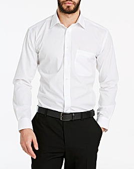 Double Two White Long Sleeve Crease Resistant Shirt Regular