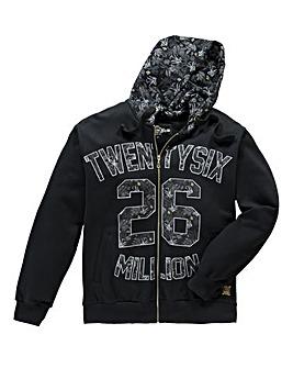 26 Million Pellow Black Zip-Up Hoodie