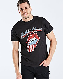 Rolling Stones Black Band T-Shirt Long