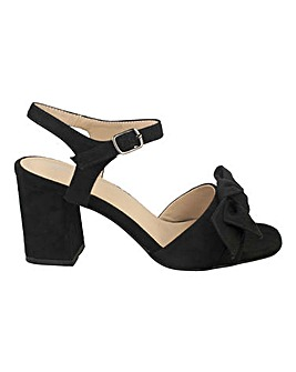 Bow Front Block Heels Standard Fit
