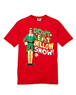 Elf Yellow Snow Graphic T-Shirt Long