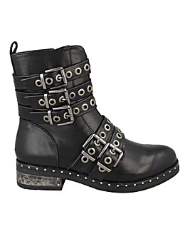 Buckled Biker Boot Standard Fit