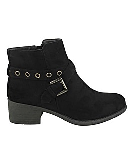Strap Buckle Ankle Boot Standard Fit