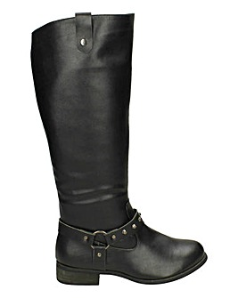 Strap Detail Knee High Boot Standard Fit